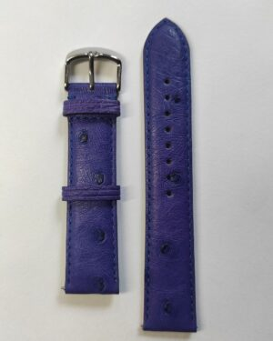 Violet ostrich leather strap with quick release spring bars