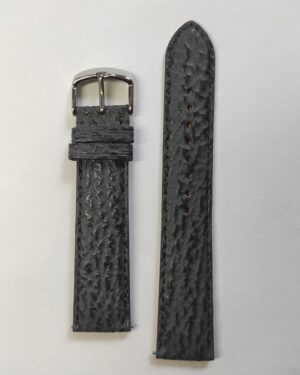 Grey Sharkskin leather strap with quick release spring bars