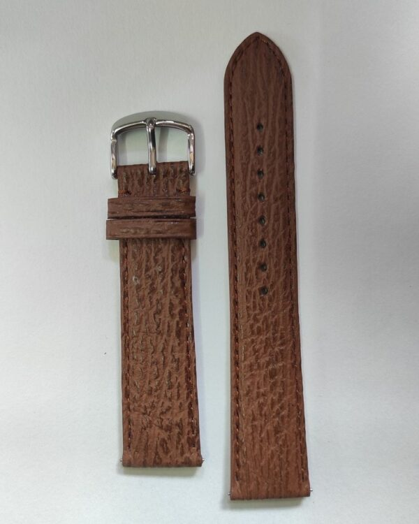 Brown Sharkskin leather strap with quick release spring bars