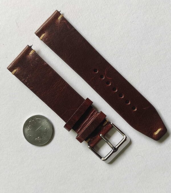 Brown Ibiza Italian Leather Strap with quick release spring bars