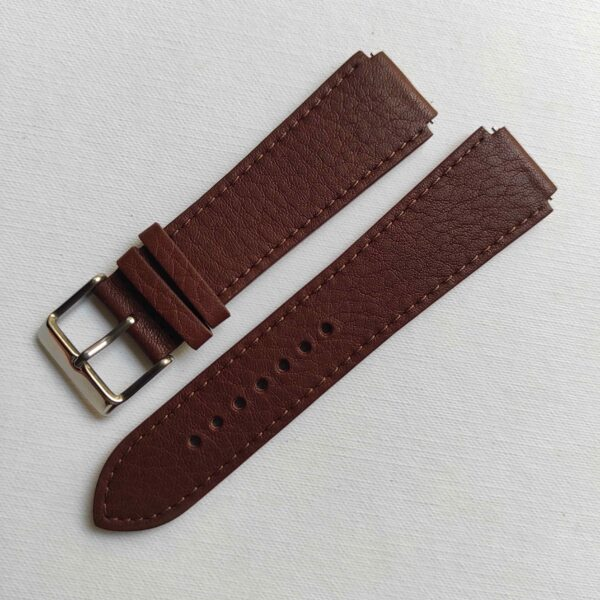 Fitted Brown Italian Leather Strap for the Casio AE1200