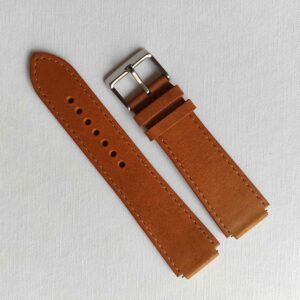 fitted tan leather strap for Casio AE1200
